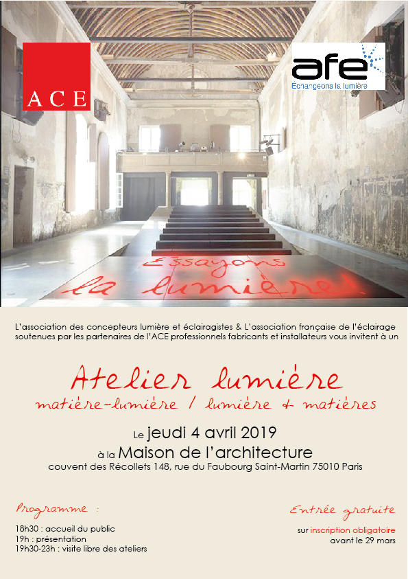 invitation ACE&AFE le 4 avril